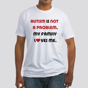 Autism - Not A Problem Fitted T-Shirt