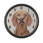 Vizsla Large Wall Clock