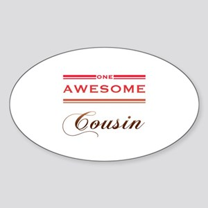 One Awesome Cousin Sticker (Oval)