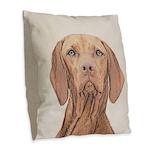 Vizsla Burlap Throw Pillow