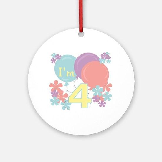 4th Pastel Birthday Ornament (Round)