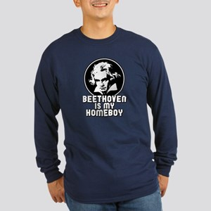 Beethoven is my Homeboy Long Sleeve Dark T-Shirt