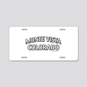 Monte Vista Colorado Aluminum License Plate