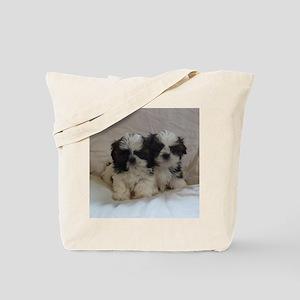 Two Shih Tzu Puppies Tote Bag