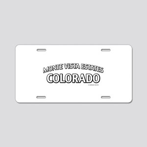 Monte Vista Estates Colorado Aluminum License Plat