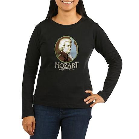 Mozart Women's Long Sleeve Dark T-Shirt