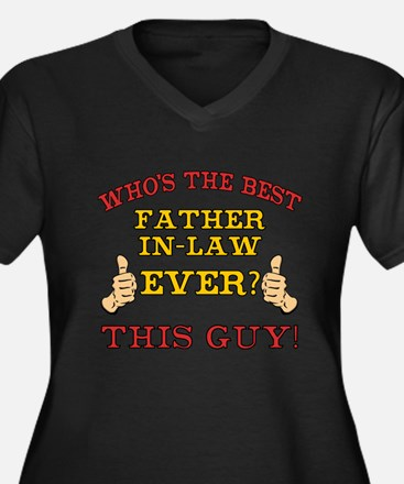 Best Father-In-Law Ever Women's Plus Size V-Neck D