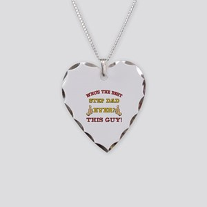 Best Step Dad Ever Necklace Heart Charm