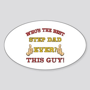 Best Step Dad Ever Sticker (Oval)