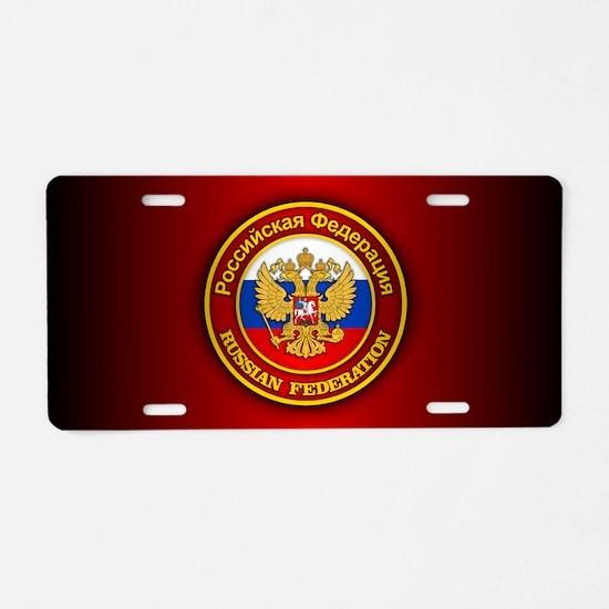 Russia COA Aluminum License Plate