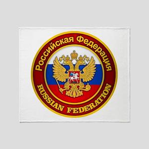 Russia COA Throw Blanket