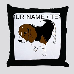 Custom Beagle Throw Pillow