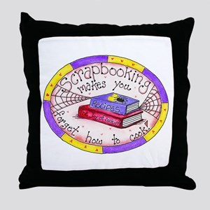 Scrapbooking and Cooking Throw Pillow