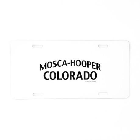 Mosca-Hooper Colorado Aluminum License Plate