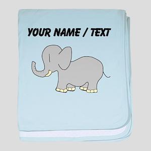 Custom Baby Elephant baby blanket