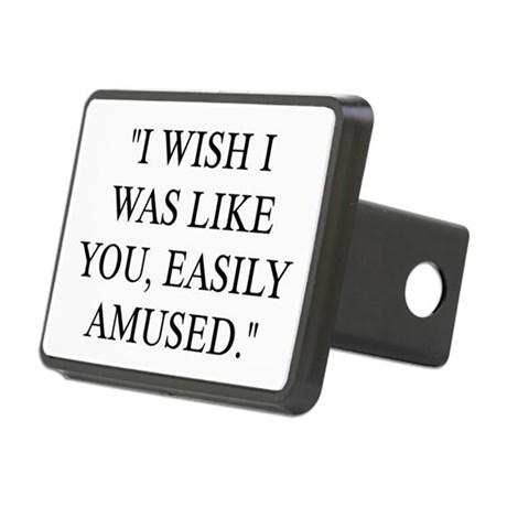 EASILY AMUSED Rectangular Hitch Cover