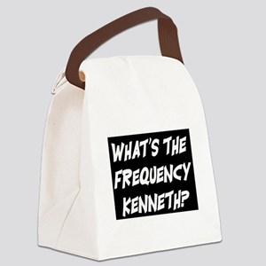 WHAT'S THE FREQUENCY? Canvas Lunch Bag