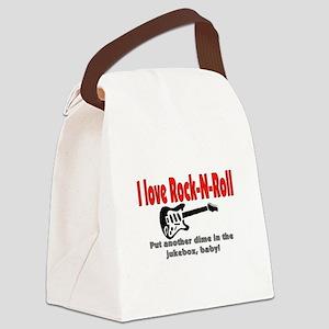 I LOVE ROCK-N-ROLL Canvas Lunch Bag