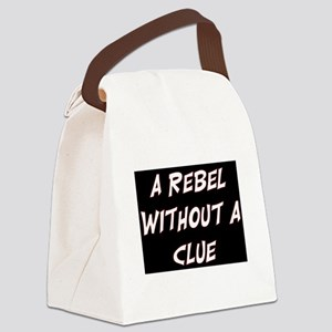 REBEL WITHOUT A CLUE Canvas Lunch Bag