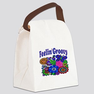 FEELIN' GROOVY Canvas Lunch Bag