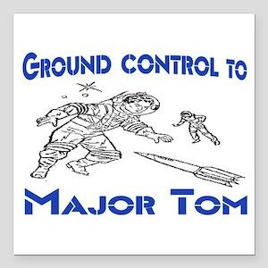 "MAJOR TOM Square Car Magnet 3"" x 3"""