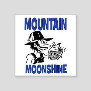 "MOUNTAIN MOONSHINE Square Sticker 3"" x 3"""