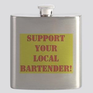 SUPPORT YOUR LOCAL BARTENDER Flask