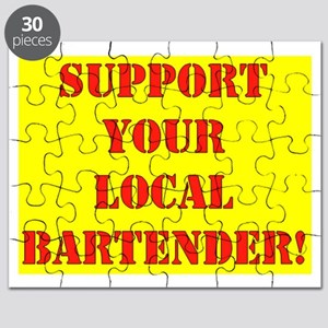 SUPPORT YOUR LOCAL BARTENDER Puzzle