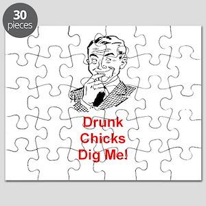 DRUNK CHICKS DIG ME Puzzle