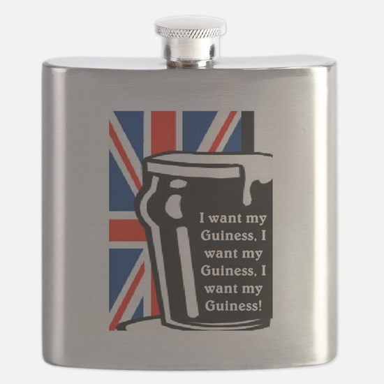 I WANT MY GUINESS Flask