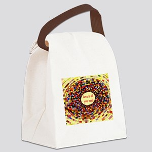 LOVE IS ALL YOU NEED Canvas Lunch Bag