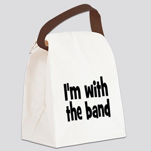 I'M WITH THE BAND Canvas Lunch Bag