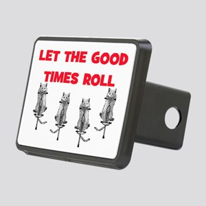 LET THE GOOD TIMES ROLL Rectangular Hitch Cover