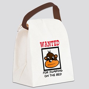 WANTED: JUMPING ON THE BED Canvas Lunch Bag