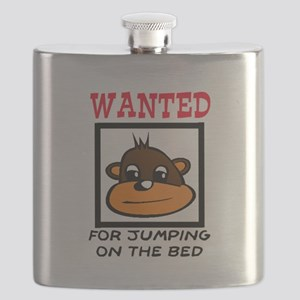 WANTED: JUMPING ON THE BED Flask
