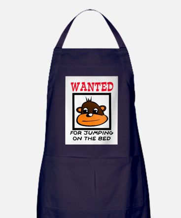 WANTED: JUMPING ON THE BED Apron (dark)