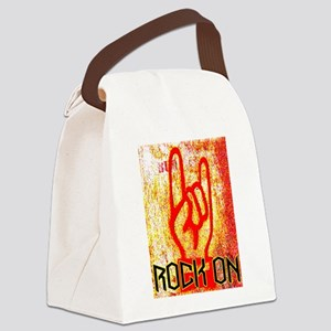 ROCK ON - RED Canvas Lunch Bag