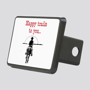 HAPPY TRAILS Rectangular Hitch Cover