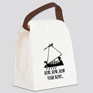 ROW, ROW, ROW YOUR BOAT Canvas Lunch Bag