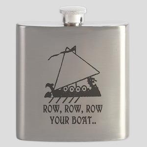 ROW, ROW, ROW YOUR BOAT Flask