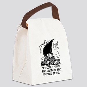 THE LAND OF ICE AND SNOW Canvas Lunch Bag