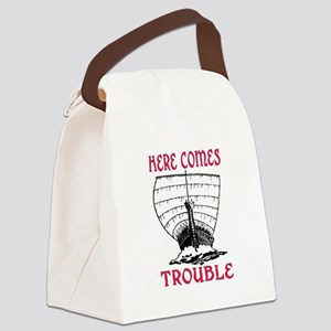 HERE COMES TROUBLE (VIKING) Canvas Lunch Bag