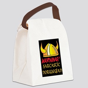SARCASTIC NORWEGIAN! Canvas Lunch Bag