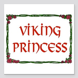 "VIKING PRINCESS Square Car Magnet 3"" x 3"""
