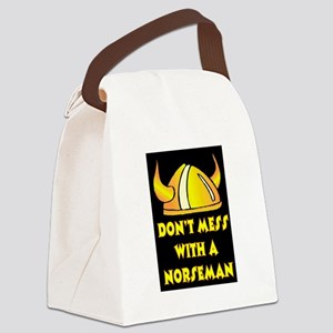 DON'T MESS WITH A NORSEMAN Canvas Lunch Bag