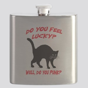 DO YOU FEEL LUCKY? (BLACK CAT) Flask