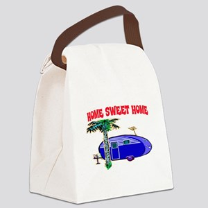 HOME SWEET HOME (BLUE) Canvas Lunch Bag