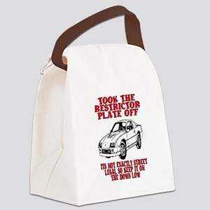 RESTRICTOR PLATE OFF.. Canvas Lunch Bag