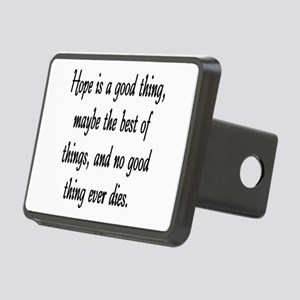 HOPE IS A GOOD THING Rectangular Hitch Cover