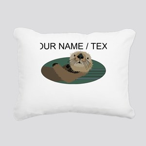 Custom Otter Rectangular Canvas Pillow